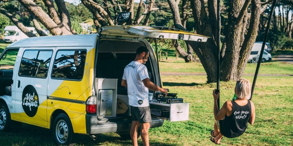 Mad camper huren in Nieuw-Zeeland