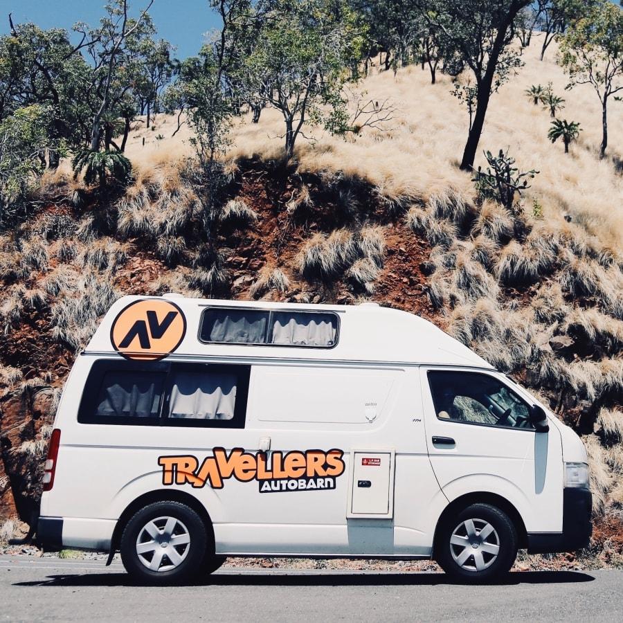 Maak je roadtrip met de Travellers Autobarn Hitop camper huren in Nieuw-Zeeland