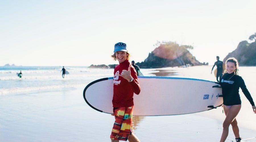 Surfles van surfinstructeur vanuit Sydney