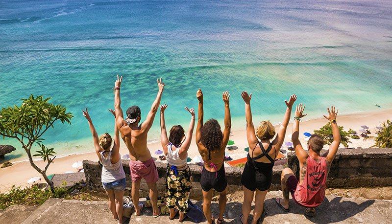 Groep reizigers tijdens de Bali Groepsreis