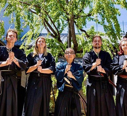 Met de groep een Samurai Experience tijdens de Japan Explorer Groepsreis