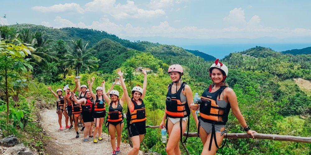 Kawasan Falls Canyoning tijdens de Filipijnen Ultimate Groepsreis