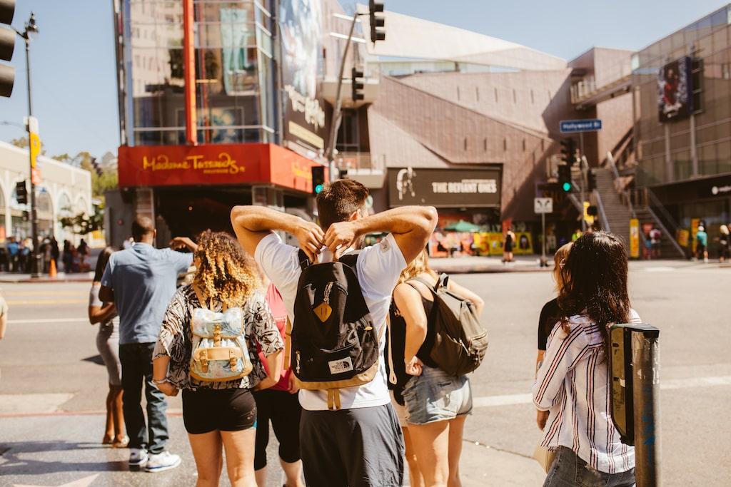 Struin door Los Angeles met de medereizigers