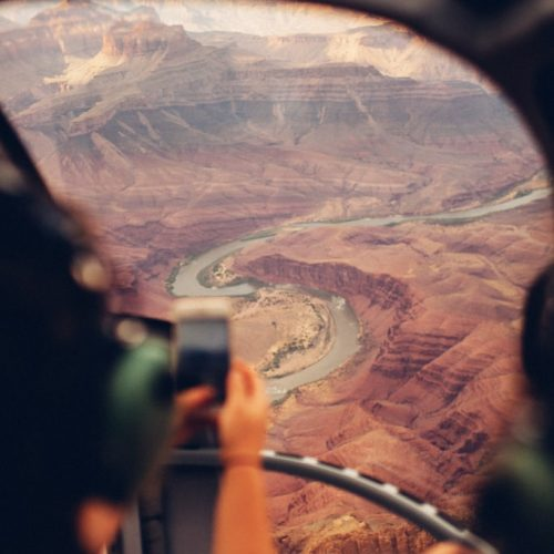 Helicopter vlucht over de Grand Canyon