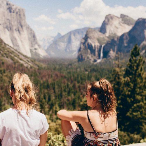 Geniet van het uitzicht in Yosemite National Park met de USA West Plus Jongerenreizen in Noord-Amerika