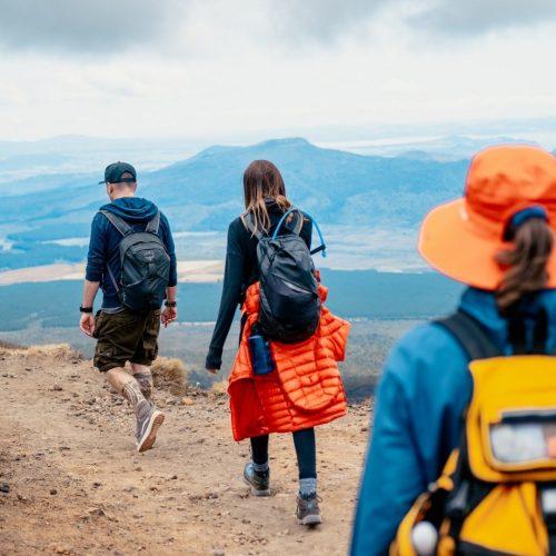 Hike de Tongariro Crossing op het Noordereiland van Nieuw-Zeeland