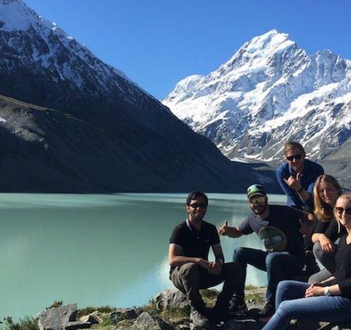 Mount Cook met de groep