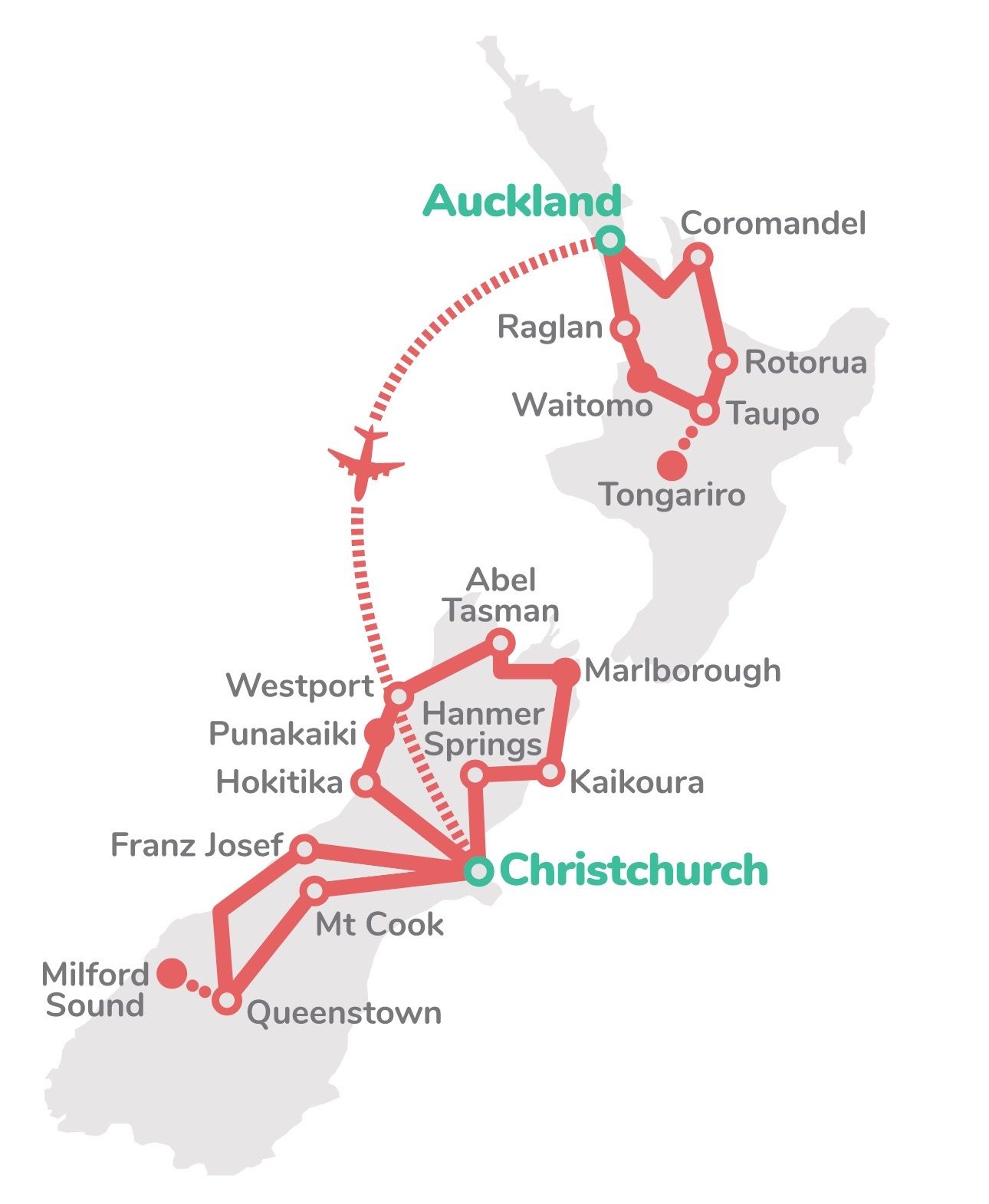 Route NZ Discovery Groepsreis