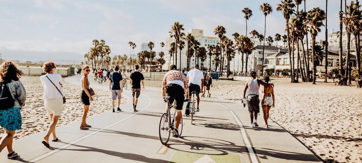 Fietsen langs het strand van Miami met de American Dream Groepsreis