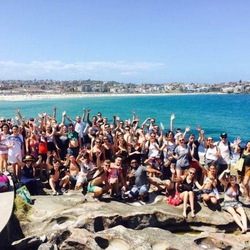 Groep reizigers met het Sydney Plus startpakket