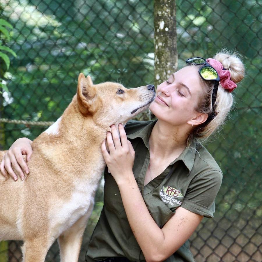 Het waardevolle werk van een vrijwilliger in het Rainforest en Wildlife project
