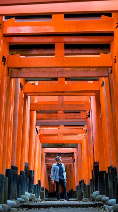 Mysterieuze omgeving van Kyoto in Japan