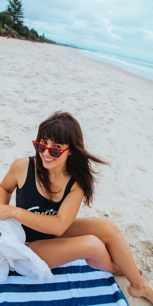Relaxen op het strand van Byron Bay