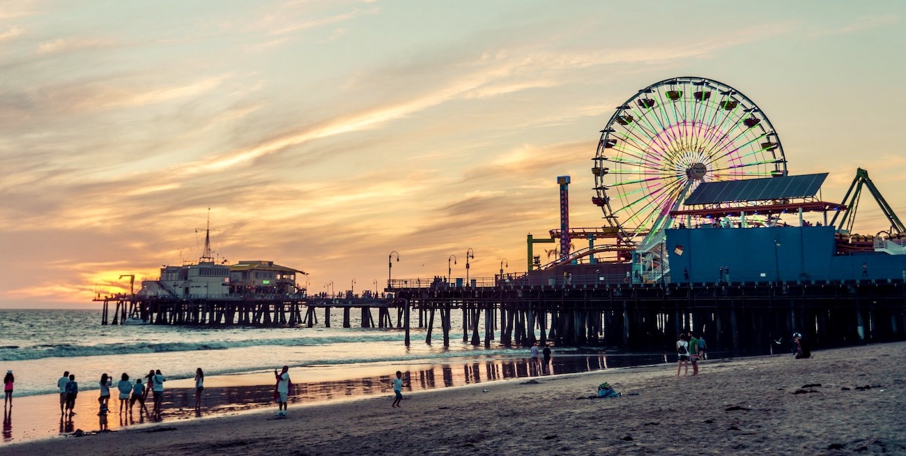 Santa Monica pier In California met de USA West jongerenreis