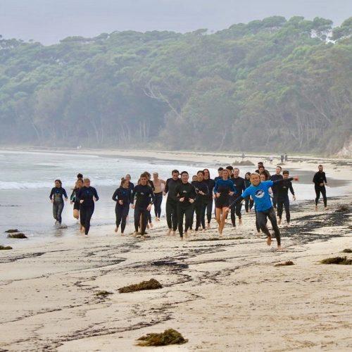 Surflessen in groepsverband