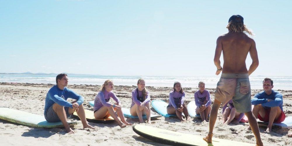 Theorie surflessen in de praktijk brengen