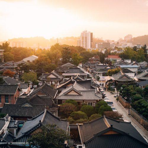 Traditionele huisjes in Zuid-Korea