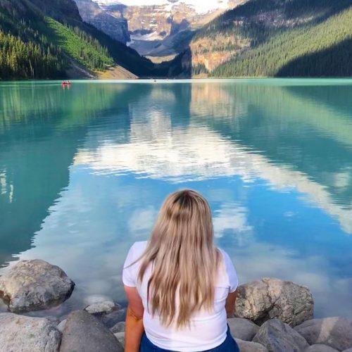 Uitzicht over het prachtige Lake Louise