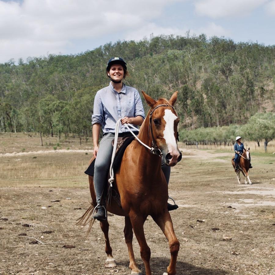 Werken met paarden doe je op een boerderij in Australie