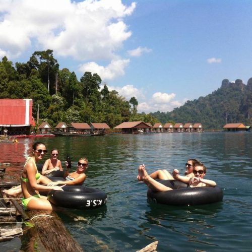 Floating bungalows Vietnam
