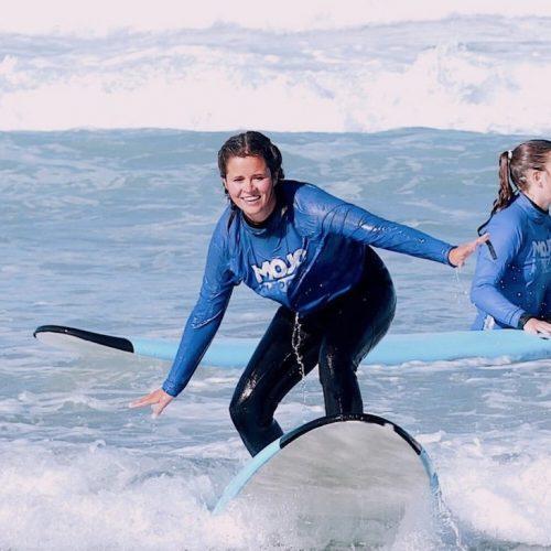 Leren surfen op Bali