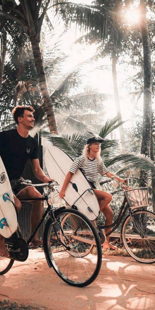 Pak je fiets en je surfboard naar de mooiste stranden van Bali