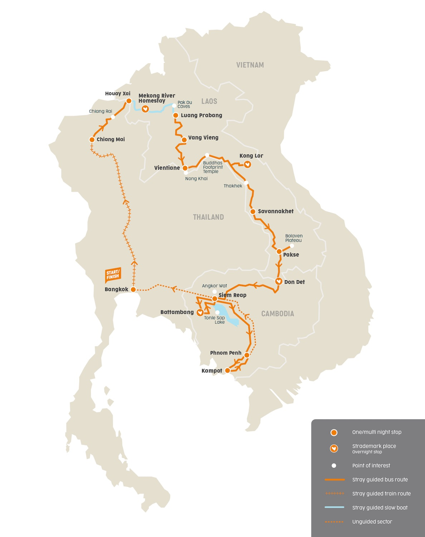 Routemap Stray Mekong Buspas
