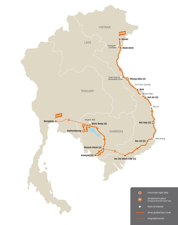Routemap Stray Moc Bai Buspas