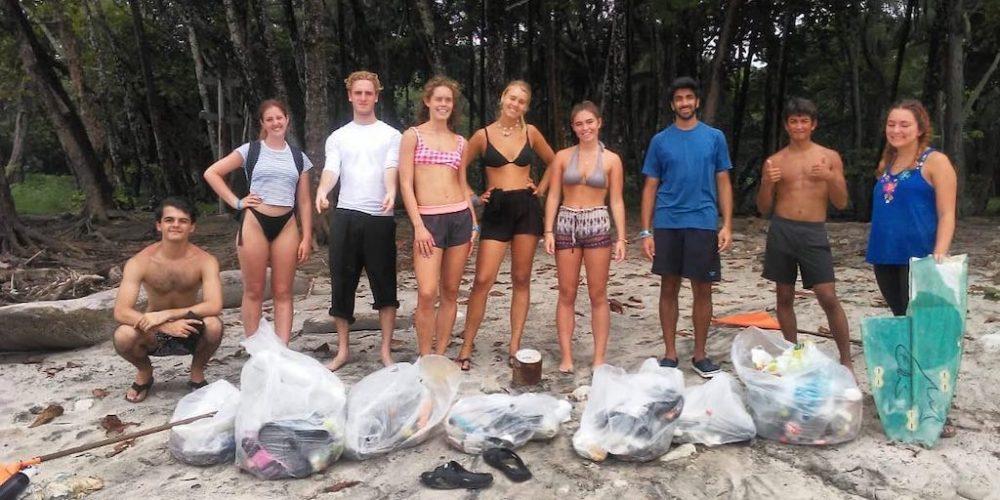 Beach clean up day in Costa Rica
