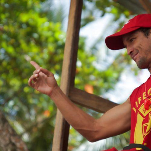 Life guard Costa Rica surf