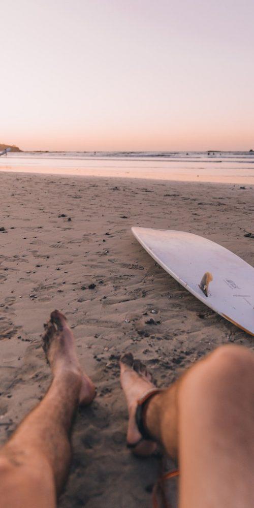 Chillen op het strand van Costa Rica Surfkamp