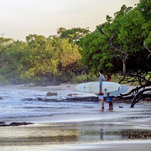 Costa Rica surfkamp strand