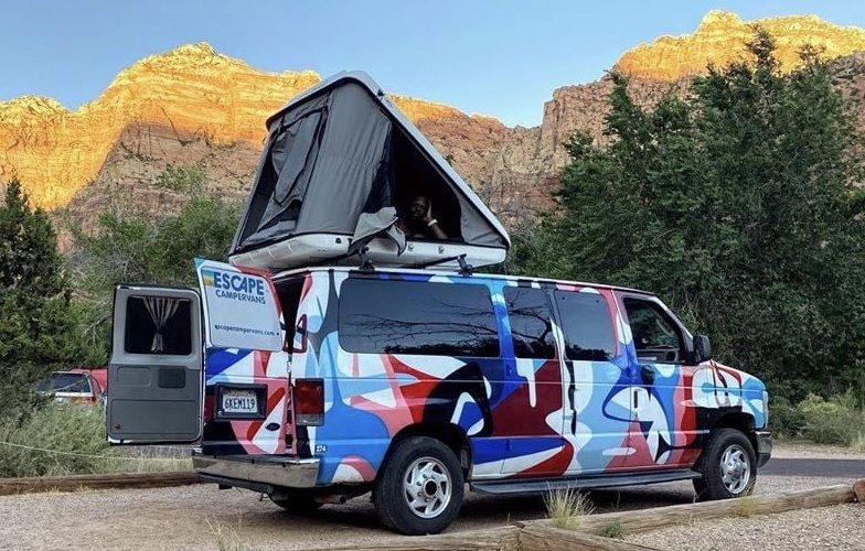 Escape Campervans roadtrip door de USA