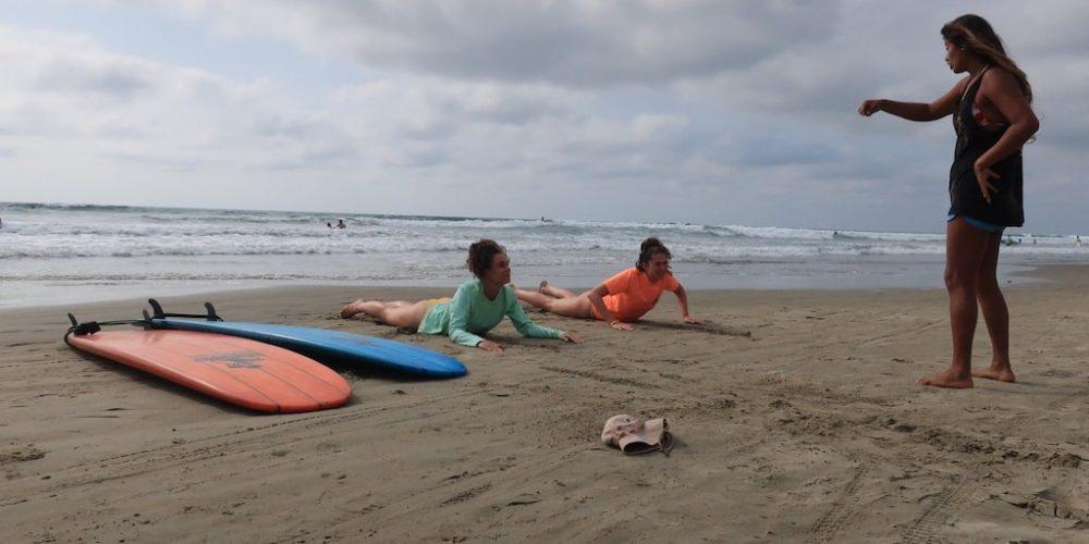 Leer surfen in Ecuador Montanita
