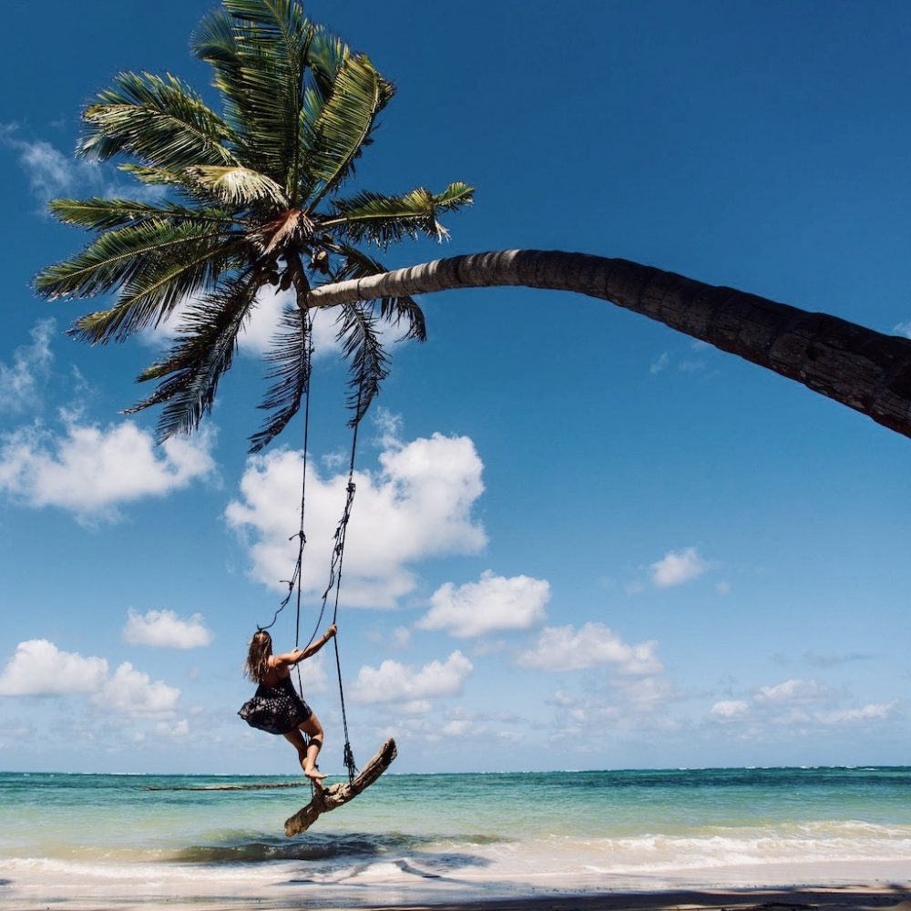 Ocean palm swing tijdens de Mexico Yucatán Groepsreis