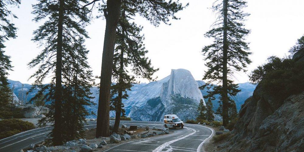 Travellers Autobarn camper onderweg in Amerika
