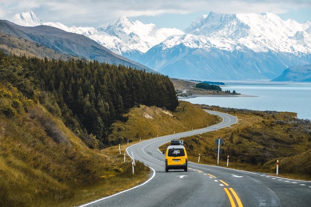 Reizen met de camper over het zuidereiland van Nieuw-Zeeland