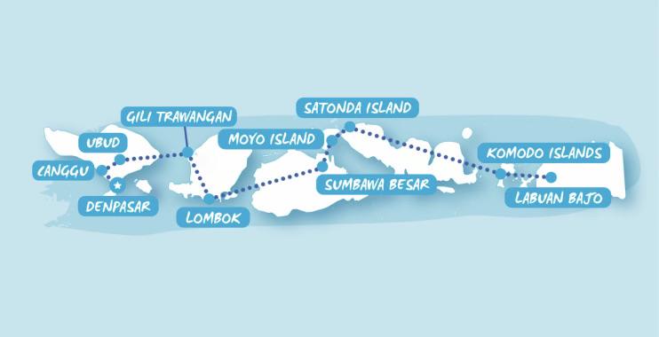 Bali & Beyond routemap