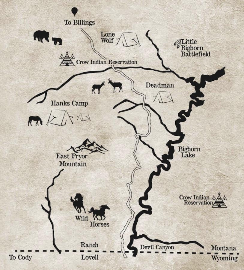 Paardenvakantie ranch map