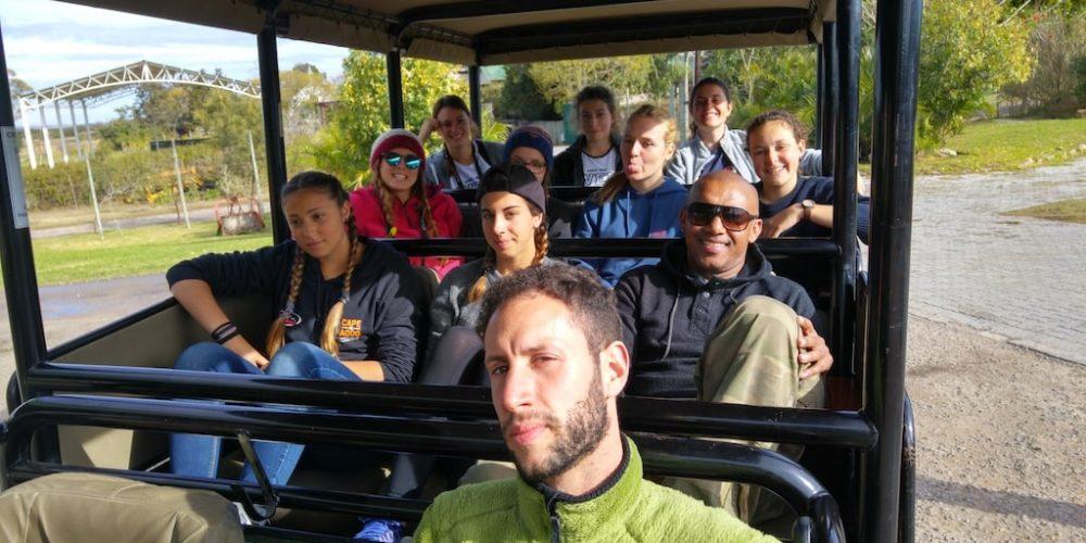 De vrijwilligers op safari in Zuid-Afrikajpg