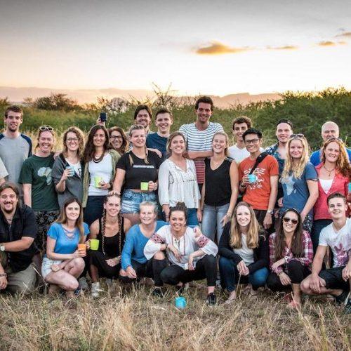 Groep vrijwilligers in het Kruger NP van Zuid-Afrika