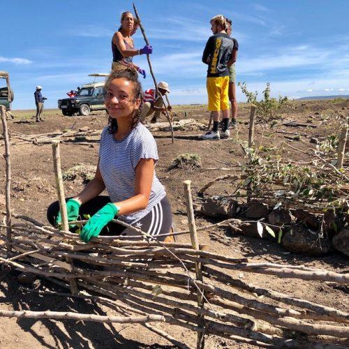 Hands-on helpen in Masai Mara