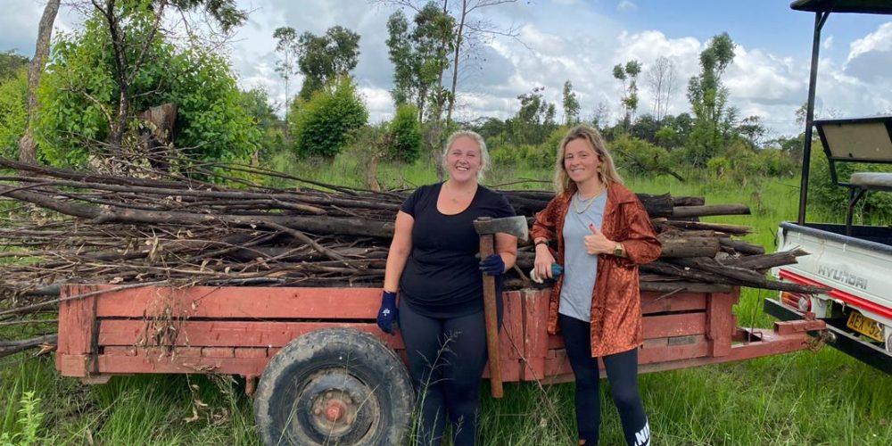 Hard werken als vrijwilliger in Zimbabwe