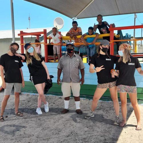 Leuke groep vrijwilligers in Zuid-Afrika