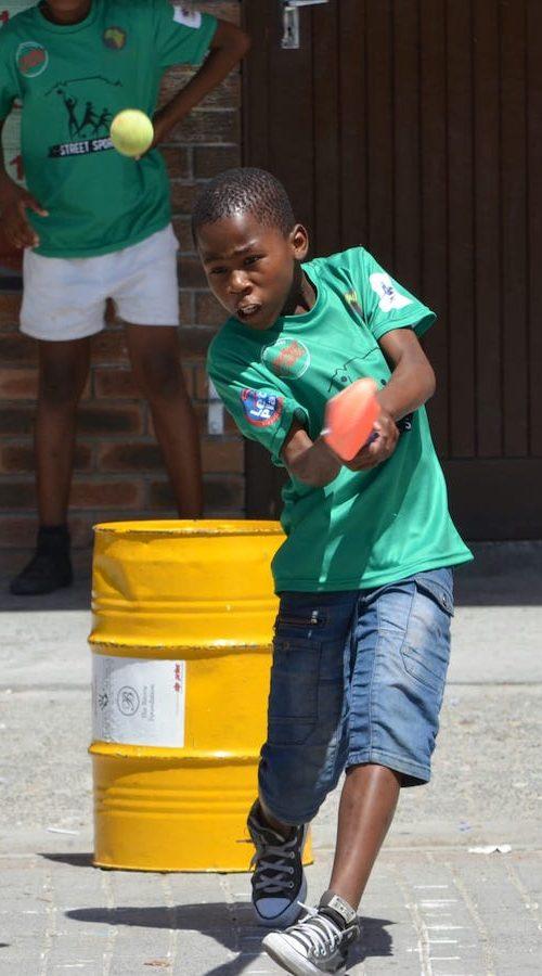 Organiseer als vrijwilliger een potje honkbal in Kaapstad