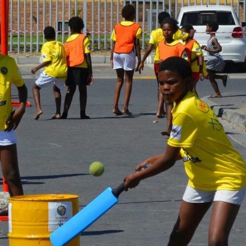 Straat sporten voor kinderen in Kaapstad