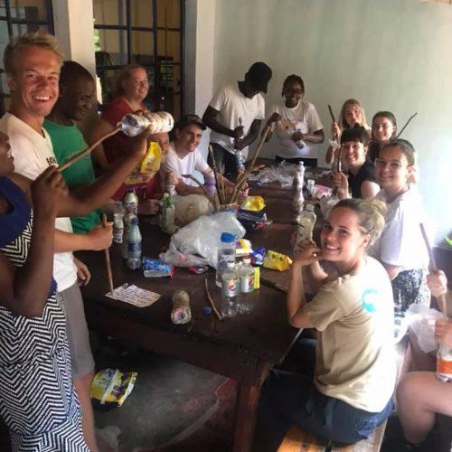 Vrijwilligers aan het werk in Zambia