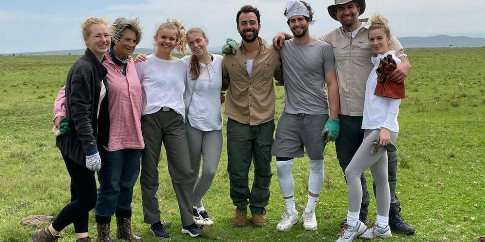 Vrijwilligers in Kenia