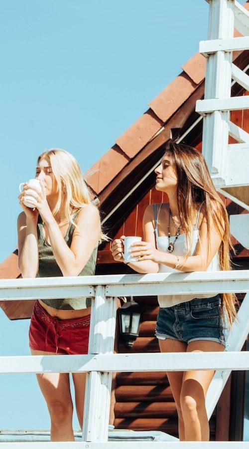 Begin de dag met koffie in het surfkamp van Jeffreys Bay