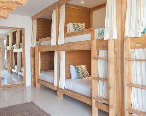 Canggu surfkamp gedeelde kamer